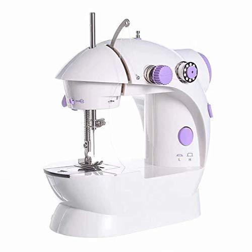 Máquina de coser eléctrica portátil con pedal, máquina de coser resistente de 12 agujas y 2 velocidades, máquina de coser rápida, herramienta de costura doméstica, EE. UU. regulaciones, 21X14X23cm