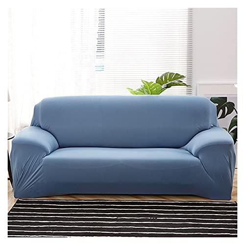 Funda Sofa Cubierta de sofá liso elástica de la cubierta de la cubierta ajustada del estiramiento de la cubierta del sofá todo incluido para la sala de estar Sofá Funda cubierta de sofá Lavable Mueble
