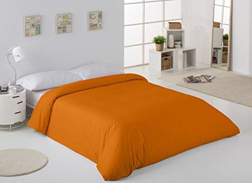 ESTELA - Funda nórdica Combi Color Ocre - Cama de 180/200 cm. - 50% Algodón / 50% Poliéster - 144 Hilos