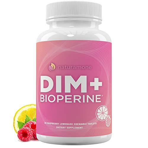 DIM Supplement 200mg - Raspberry Lemonade Chewables - DIM Diindolylmethane with BioPerine (Black Pepper Extract) - 60 Day Supply