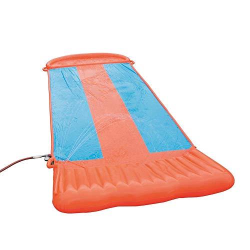 Tobogán de agua hinchable, almohadillas de agua, césped de jardín y juguete de agua para niños al aire libre, doble esquí acuático, gran surf hinchable para niños al aire libre, 5.49 m