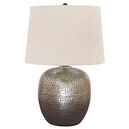 Signature Design by Ashley - Magalie Metal Table Lamp - Antique Silver Finish