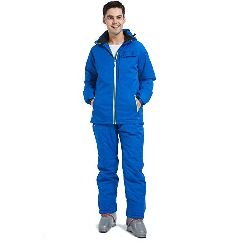 YHWW Combinaison de Ski Wild Snow Marque Ski Suit Hommes Hiver Imperméable Coupe-Vent Épaissir Chaud Neige Vêtements Ski Ensembles Veste Veste De Ski Et Snowboarding Costumes, Bleu, XXXL