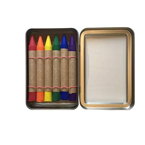 A Childhood Store, Crayons Traditional Metal T Inch, 6 Count