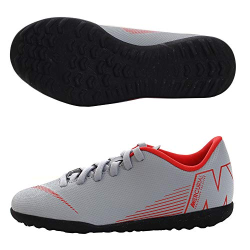 Nike Jr Vapor 12 Club GS Tf, Scarpe da Calcetto Indoor Unisex-Adulto, Multicolore (Wolf Grey/Lt Crimson/Black 060), 38 EU