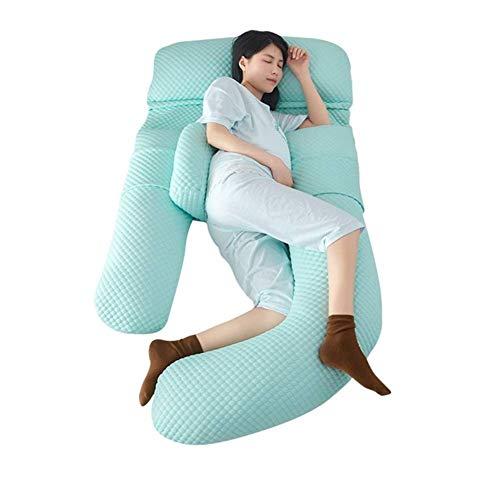 Abnehmbare G-Form-Unterstützung Der Körper lindert Müdigkeit Umweltfreundliches Schwangerschaftskissen 2 Styles Grün