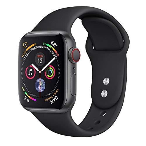 Pulseira silicone compativel para Apple watch e Iwo premium (Preto 38/40mm)