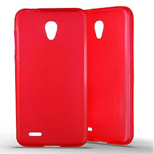 1001 Coques - Cover in silicone per Alcatel One Touch Go Play, colore: Rosso
