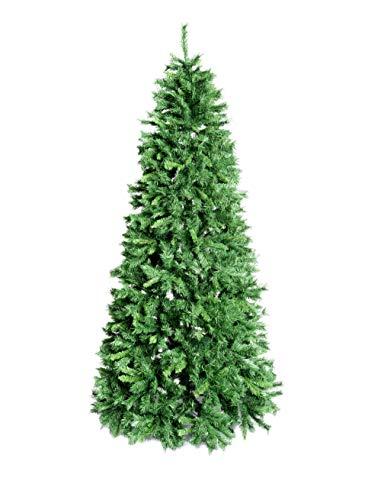 XONE Albero di Natale Royal Slim Verde in PVC | Albero folto di Natale | 1188 Rami - 240cm