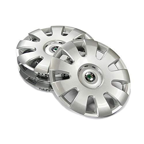 Skoda CDZ600001 Radzierblenden (4 Stück) Radkappen 15 Zoll Castle Radblende 6Jx15 Stahlfelge Silber