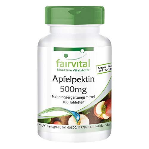 Apfelpektin Tabletten - mit löslichen Ballaststoffen, Calcium und Vitamin C - VEGAN - 100 Tabletten