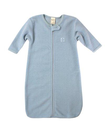 Lana Natural Wear Unisex - Baby Fleeceschlafsack, Einfarbig, Gr. 100, Blau (Sky 511)