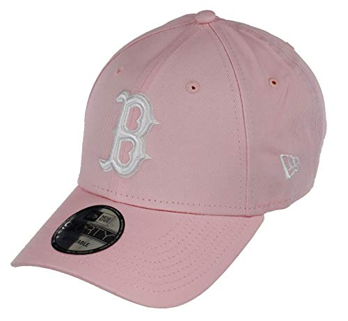 New Era Boston Red Sox 9forty Adjustable Cap - League Essential - Rose/White - One-Size