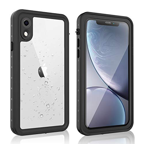 AMORNO iPhone XR Waterproof Case, Underwater Full Sealed Protective Shockproof Snowproof Waterproof Case for iPhone XR 6.1 Inch