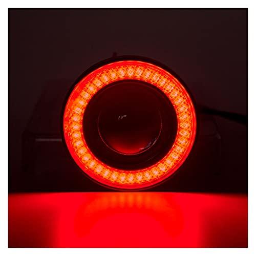 Linterna Ángel Ojos niebla luz Universal COB LED LED DRL Luz de conducción Lámpara de niebla 64mm 76mm 89mm 2.5'3' 3.5'12v 2pcs (Color Temperature : 2.5inch 64mm)