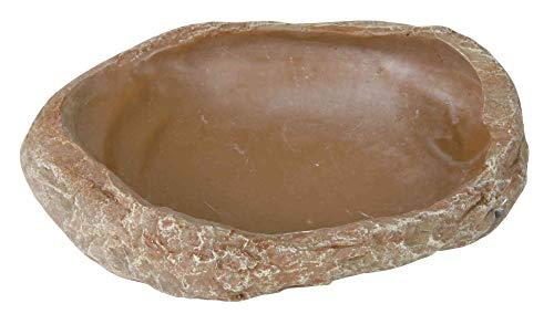 Trixie Reptil Estepa Rock decoración Agua y Cuenco de la Comida, 15x 3,5x 12cm