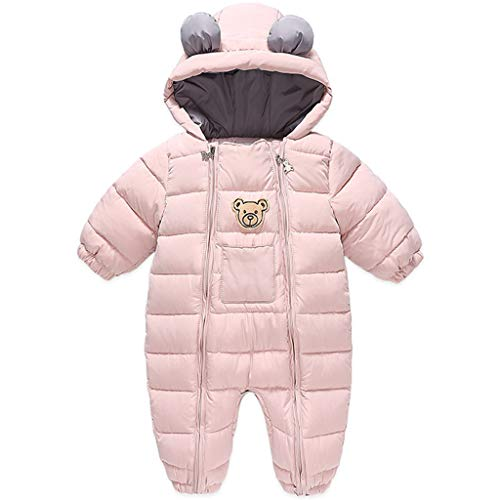 Bambino Pagliaccetto Invernale Tutina in Pile con Cappuccio Tuta da Neve Neonato Tutone Addensata Tute Pigiama con Cerniera
