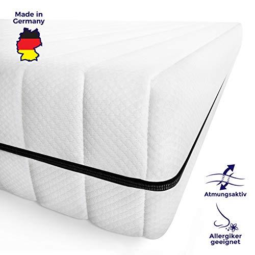 Mister Sandman 7-Zonen Kaltschaummatratze mit Premium Doppeltuchbezug, Polyester, H2, 140 x 200 cm