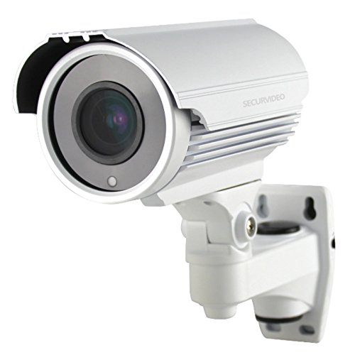 SECURVIDEO Telecamera IP Poe Onvif 4MP Motorzoom Autofocus 5X SD Card Slot 128GB P2P H265, Visione Notturna 40m IR LED, P2P App