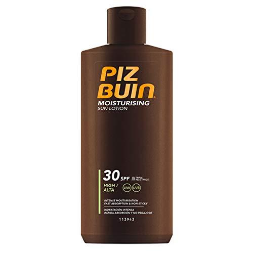 Piz Buin Moisturising Sun Lotion LSF 30, schnell einziehende Sonnencreme mit dreifach Sonnenschutz (1 x 200 ml)