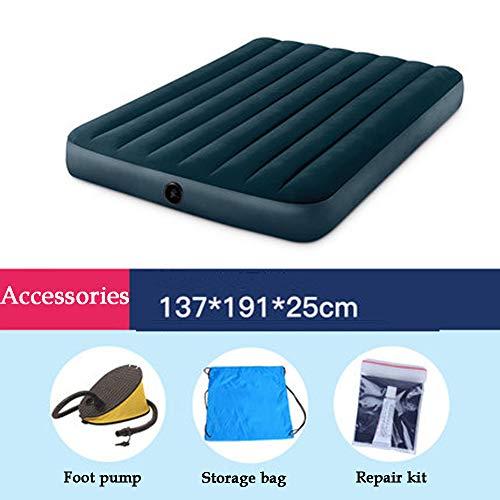 UPSHIP matras voor tweepersoonsbed met pomp, structuur van vezel, opbergtas, reparatiegereedschap, geschikt voor binnen, buiten, camping, klein