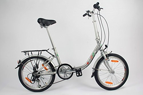 GermanXia Faltrad 20 Zoll Comfort 1-Gang mit Rücktrittbremsen, Farbe :schwarz