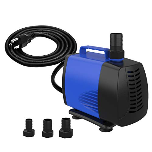 Knifel Submersible Pump 1320GPH Ultra Quiet with Dry Burning Protection 16.4ft High Lift for Fountains, Hydroponics, Ponds, Aquariums & More……