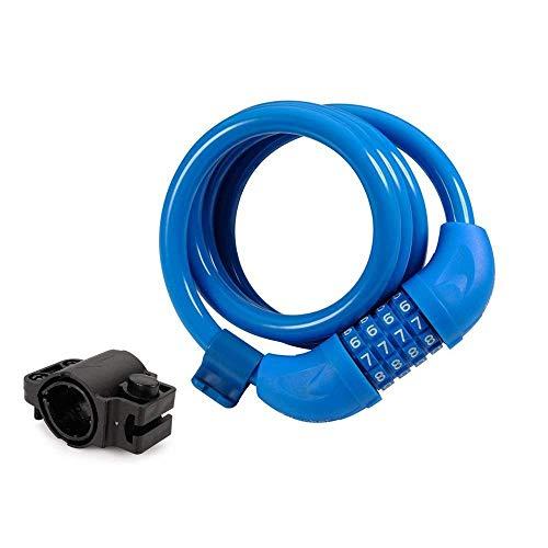 Titanker Bike Lock, Bike Locks Cable Secure Combination Bike Cable Lock with Mounting Bracket (4 Feet, 1/2 Inch Diameter)