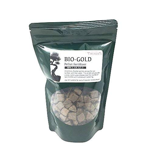 BioGold Bonsai Fertilizer Pellets - Time Released Fertilizer + Plant Food That Will Not Harm Plants or Encourage Mold Growth