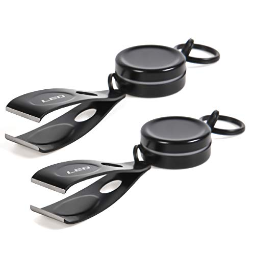 Leo Adjustable Fishing Line Clipper Portable Telescopic Quickly Line Cutter Stainless Steel Fishing Tool 2Pack (2pcs)