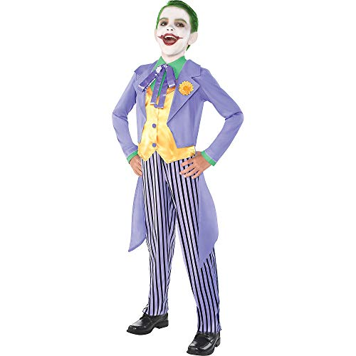 Costumes USA Classic Joker Halloween Costume for Boys, Batman Villain, Large (Size 12-14), Includes Tailcoat and Pants