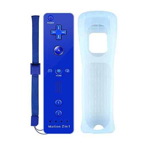Kabellose Fernbedienung mit eingebautem Motion Plus Mini Kitty Remote Joystick Ersatz Videospiel Gamepads für Wii und Wii U mit Silikonhülle