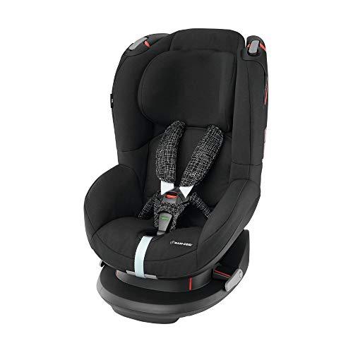 Maxi-Cosi Tobi Kleinkinder-Autositz, Installation mit Sicherheitsgurt, 9 Monate - 4 Jahre, 9 - 18 kg, Black Grid (schwarz)