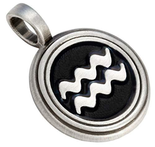 Bico Acuario Zodiaco Colgante (Z2)–Funda de Colores Resina y Metal Calle Tribal Jewelry