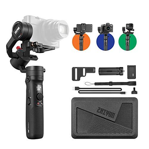 Zhiyun Crane M2 [ Offiziell ] 3-Achsen-Stabilisator-Gimbal für Smartphones, Action Cams, kompakte und leichte Hybridkameras