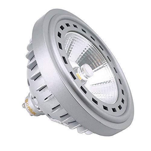 Bonlux 12W LED GU10 AR111 240V 2700K Luz Cálida 24 Grados Reemplazo del Cree COB LED GU10 ES111 lámpara Halógena de 75W