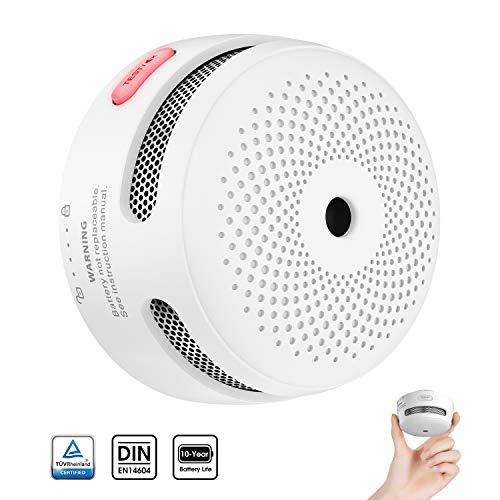 X-Sense Rauchmelder Mini Feuermelder mit 10 Jahren Batterielaufzeit, TÜV und EN14604 Zertifizierter Rauchwarnmelder, Feueralarm mit Fotoelektrischem Sensor, XS01 (1er Set)