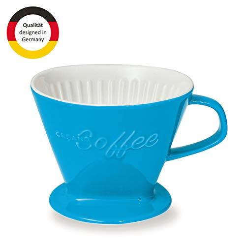Creano Porzellan Kaffeefilter, Filter Größe 4 (Blau) In 6 Farben erhältlich