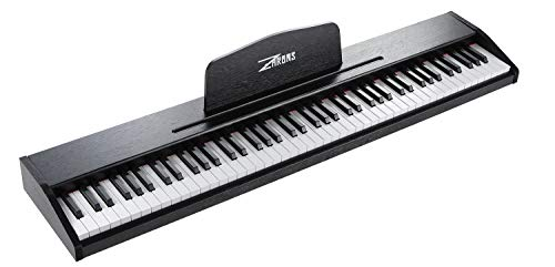 ZHRUNS Beginner Digital Piano Keyboard with 88 Key Full Size Semi Weighted Keyboard,Portable Electric Piano with 1 Sustain Pedal,Headphone Jack/USB/MIDI Capability/Audio Output/Power Supply (Black)
