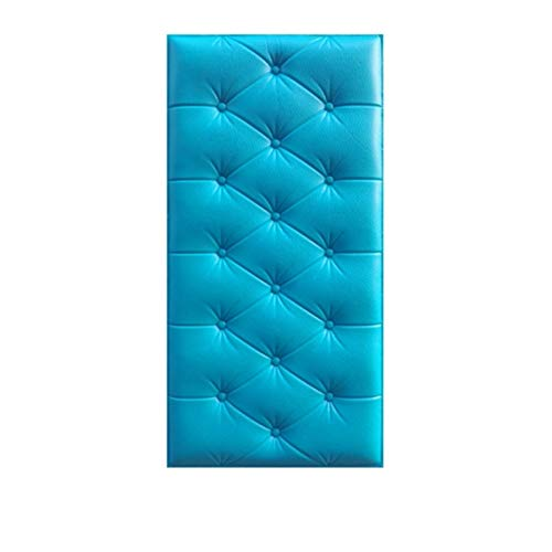 Abnehmbare Tapete Dekorative Wandbeläge 3D-Leder-PE-Schaum-Wand-Aufkleber Wasserdicht Self Adhesive Wallpaper for Wohnzimmer Schlafzimmer Kinderzimmer Kinderzimmer Wohnkultur ( Color : Blue )