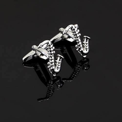 XKSWZD Einzigartige Silberne Manschettenknöpfe 3 D Musiker Manschettenknöpfe für Herren Manschettenknöpfe Manschettenknöpfe Jewelr