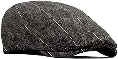 besbomig Newsboy Casquillo Plano Sombreros Boinas Flat Cap para Hombre - Wool Felt Moda Vintage Estilo Británico Casquillo