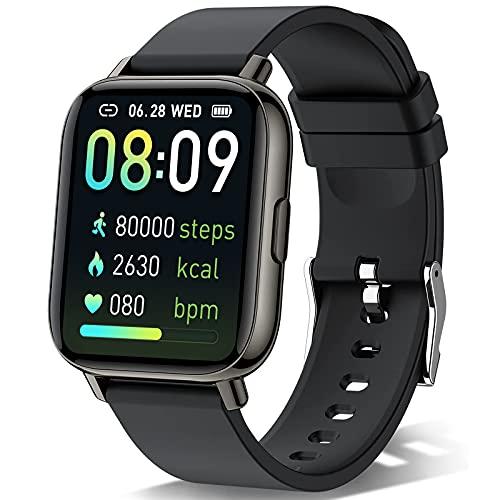 Sudugo Smartwatch 2021, 1.69'' Touch Orologio Intelligente Uomo Donna Activity Tracker, Orologio Fitness con Contapassi/Cardiofrequenzimetro/Notifiche Messaggi, 24 Modalità Sportive, Impermeabil IP67