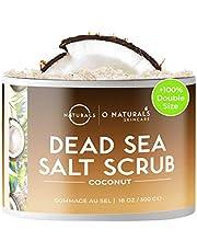 O Naturals Ultra Hydrating Exfoliating Coconut Oil Dead Sea Salt Body & Face Scrub. Skin Smoothing Anti Cellulite Treat Acne Stretch Marks Ingrown Hairs Dead Skin Remover Razor Burns Men & Women 500gr