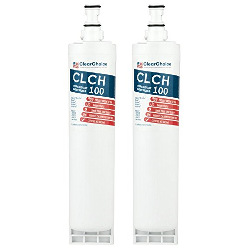 Clear Choice Taste Filter Replacement for Whirlpool 4396508 EDR5RXD1 Filter Compatible with FILTER5 WF285 WPRF-100 8212652 Refrigerator Water Filter, NSF/ANSI 42, Box of 2, Made in the USA