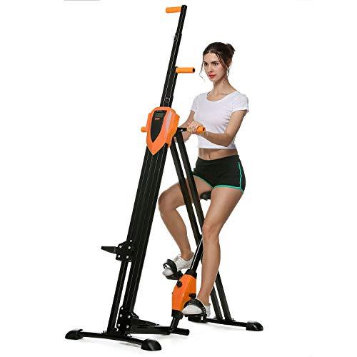 Home Gym Exercise Folding Climbing Machine,Vertical Climbing Exercise Machine, Fitness Stepper Gym