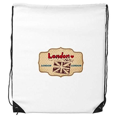 DIYthinker Uk Londen Union Jack Stempel Trekkoord Rugzak Winkelen Sport Tassen Gift