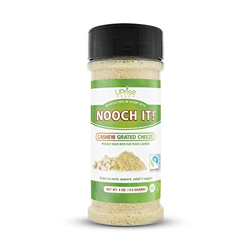 NOOCH IT! Fair Trade Dairy-Free Cashew Grated Cheeze | Vegan Parmesan ● Tasty Cheese Alternative | 4oz (Vegan 'Parm', Gluten-Free)