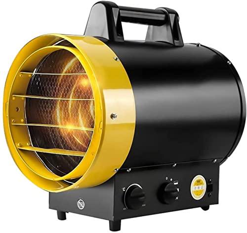 LLRZ Termoventilador Calentador eléctrico,3kw Calentador de Ventilador Industrial pequeño portátil,Calentador de Ventilador de Tambor Comercial for Garaje Workshop Warehouse Vertical Calefactor
