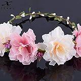 SHEDRWE Accessoires de Cheveux de corolle de mariée Perruque de Bandeau de Fleur de Pivoine séchée Mariage Naturel